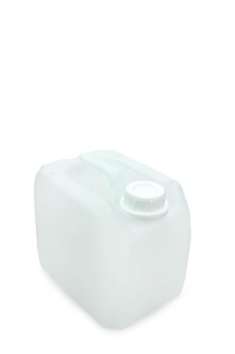 Kunststoff Kanister natur 3 Liter UN inkl. Schraubverschluss 45mm, DIN 45 weiss