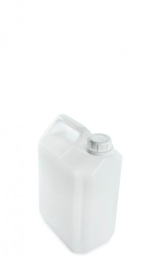 Kunststoff Kanister natur 5 Liter mit Schraubverschluss 35 mm weiß