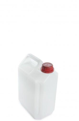 Kunststoff Kanister natur 5 Liter mit Schraubverschluss 35 mm rot