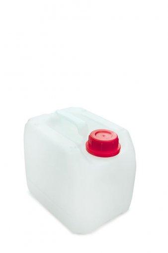 Kunststoff Kanister natur 3 Liter inkl. Schraubverschluss 45mm, DIN 45 rot