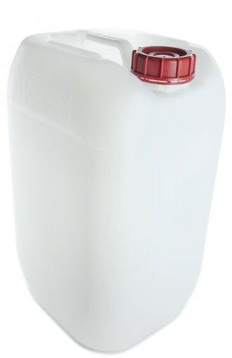 EUR Kunststoff Kanister natur UN 30 Liter inkl. Schraubverschluss 76 mm rot