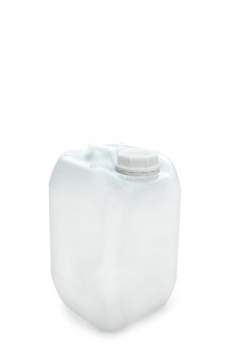 Kunststoff Kanister natur 5 Liter UN stapelbar mit Schraubverschluss DIN 51 weiß Palette