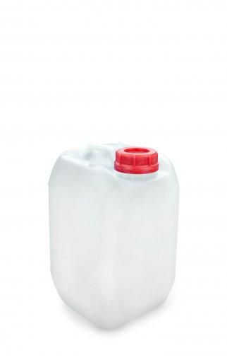 Kunststoff Kanister natur 5 Liter UN stapelbar mit Schraubverschluss DIN 51 rot mit Entgasung