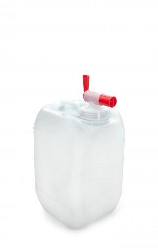 Kunststoff Kanister natur 5 Liter UN stapelbar mit Auslaufhahn DIN 51