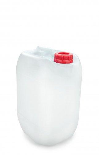 Kunststoff Kanister natur 10 Liter UN stapelbar mit Schraubverschluss DIN 51 rot mit Entgasung