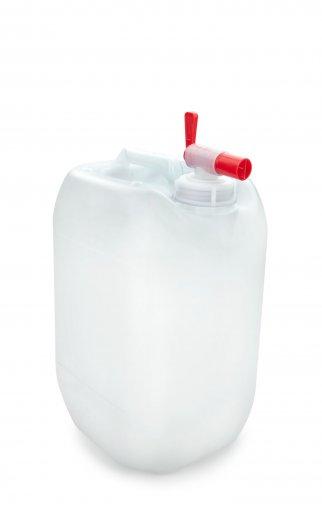 Kunststoff Kanister natur 10 Liter UN stapelbar mit Auslaufhahn DIN 51