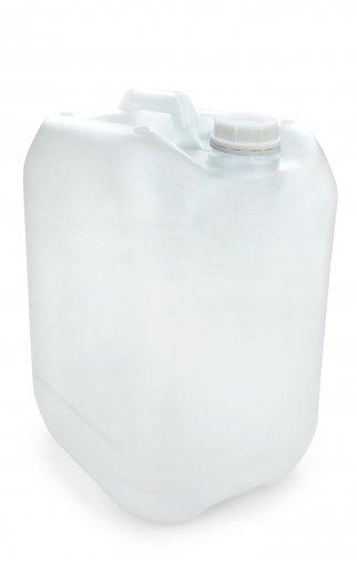 Kunststoff Kanister natur 20 Liter UN stapelbar mit Schraubverschluss DIN 51 weiß