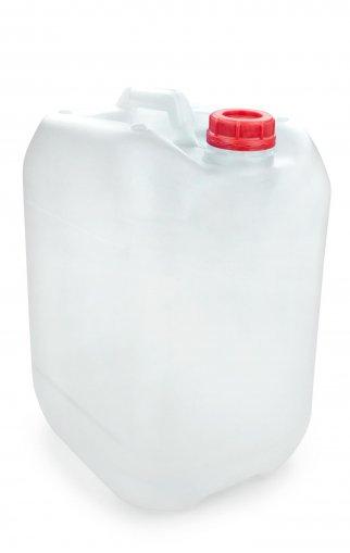 Kunststoff Kanister natur 20 Liter UN stapelbar mit Schraubverschluss DIN 51 rot