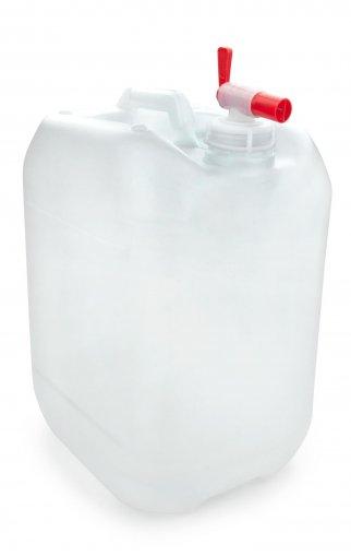 Kunststoff Kanister natur 20 Liter UN stapelbar mit Auslaufhahn DIN 51