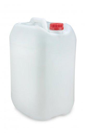 Kunststoff Kanister natur 25 Liter UN stapelbar mit Schraubverschluss DIN 51 rot