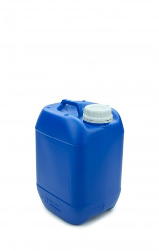 Plastic jerry can blue 5 Litre UN stackable with Screw cap DIN 51 white