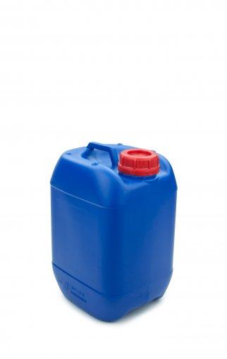 Kunststoff Kanister blau 5 Liter UN stapelbar mit Schraubverschluss DIN 51 rot mit Entgasung