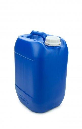 Kunststoff Kanister blau 10 Liter UN stapelbar mit Schraubverschluss DIN 51 weiß