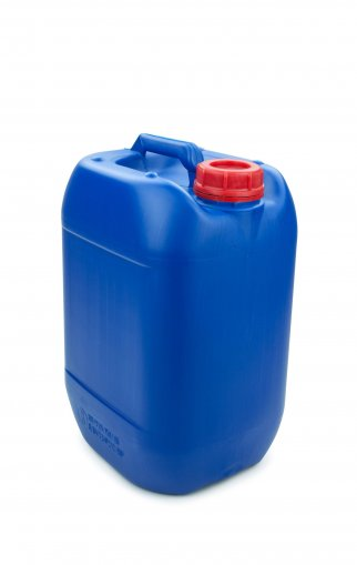 Kunststoff Kanister blau 10 Liter UN stapelbar mit Schraubverschluss DIN 51 rot