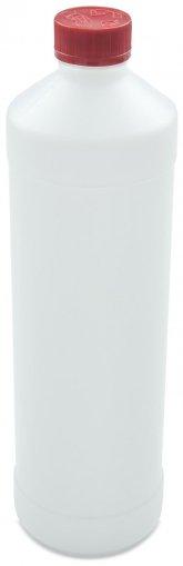 Kunststoff Flasche 1000 ml UN mit Standard Schraubverschluss DIN 28 KISI rot