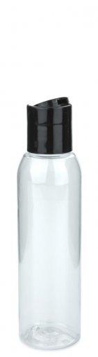 PET Flasche AIDA 100 ml klar inkl. Disc Top Schraubverschluss 24/410 schwarz