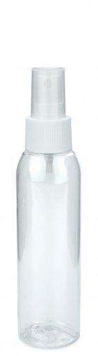 PET Flasche AIDA 100 ml klar inkl. Spray Zerstäuber Pumpe Basic 24/410 weiss