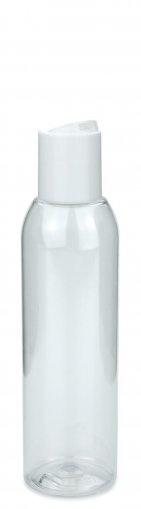 PET Flasche AIDA 150 ml klar inkl. Disc Top Schraubverschluss 24/410 weiss