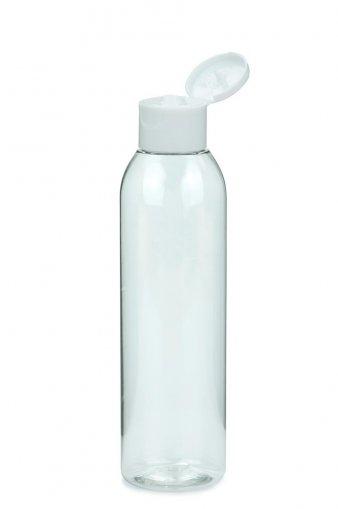 PET Flasche AIDA 200 ml klar mit Klapp- Schraubverschluss 24/410 weiß