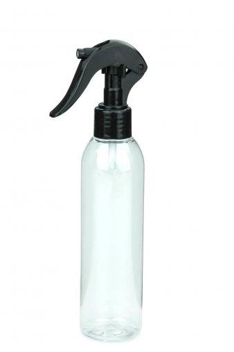 R-PET Flasche AIDA 200 ml klar mit Mini Trigger Sprühpistole 24/410 schwarz