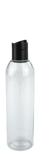 PET Flasche AIDA 200 ml klar inkl. Disc Top Schraubverschluss 24/410 schwarz