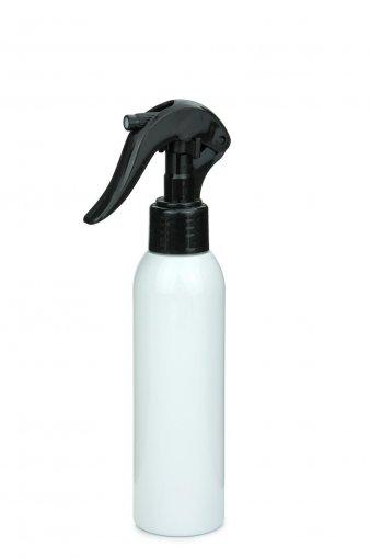 R-PET Flasche AIDA 100 ml weiss mit Mini Trigger Sprühpistole 24/410 schwarz
