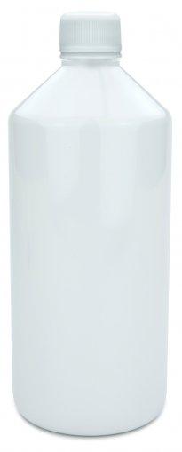 PET Laborflasche 1000 ml weiss mit Schraubverschluss 28 ROPP Originalität Basic weiss