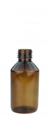 PET Laborflasche 150 ml braun ohne Verschluss