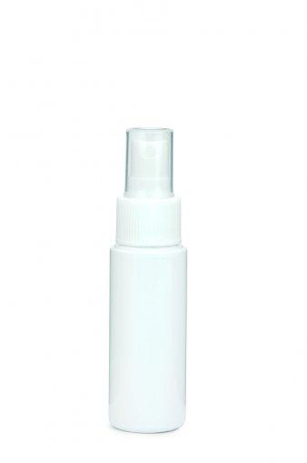 PET bottle LEONORA 50 ml white incl. fine mist sprayer 24/410 white