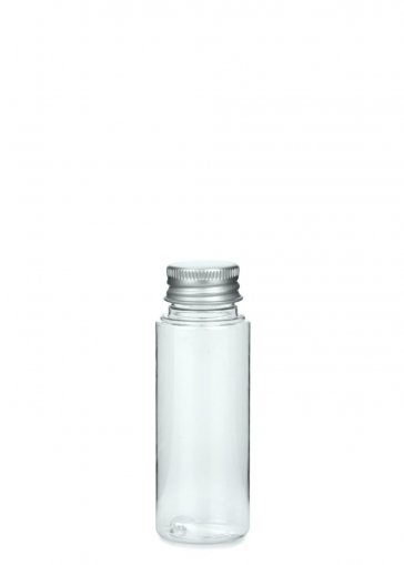 PET Flasche LEONORA 50 ml klar inkl. Alu Schraubkappe 24/410