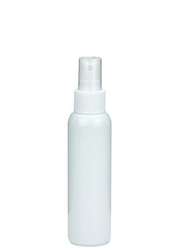 R-PET Flasche AIDA 100 ml weiss mit Spray Zerstäuber 24/410 Basic weiss