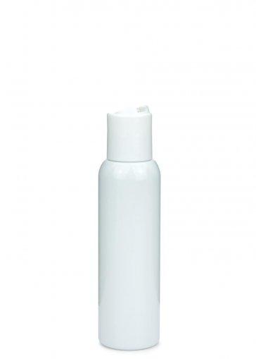 PET Flasche AIDA 100 ml weiss mit Disc Top Schraubverschluss 24/410 weiss