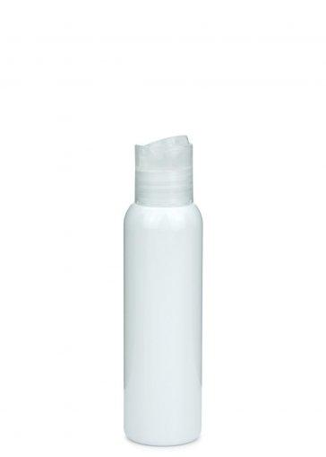 PET bottle AIDA 100 ml white with Disc top screw cap 24/410 clear