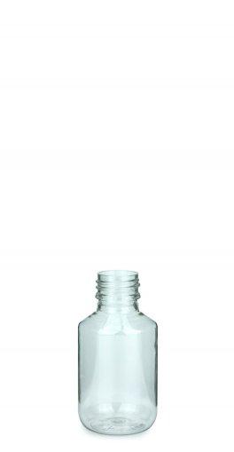 PET Laborflasche 100 ml klar ohne Verschluss