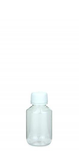 PET Laborflasche 100 ml klar mit Schraubverschluss PFP 28 Originalität