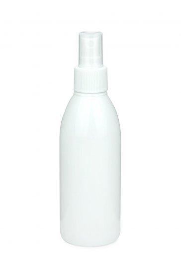 Recycling PET Flasche RIGOLETTO 200 ml weiß mit Spray Zerstäuber 24/410 Basic weiss