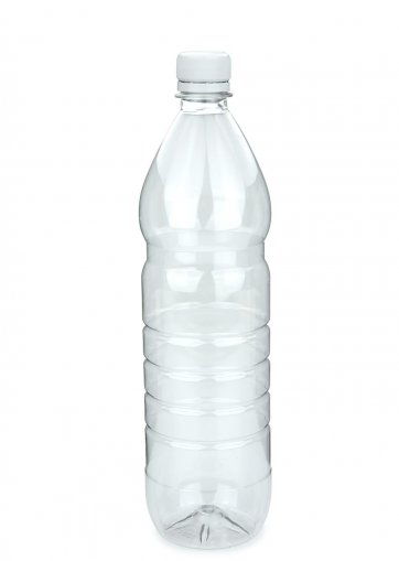 PET plastic bottle for beverage 1000 ml clear incl. Screw cap PCO 28 white for PET beverage
