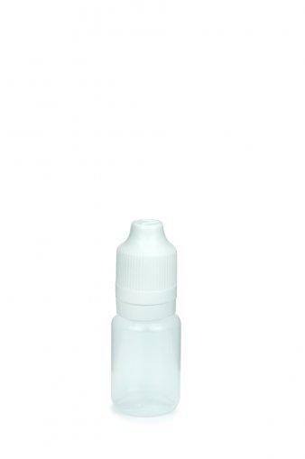 10 ml E-Liquid Flasche PE mit Spitze 3 mm und KISI Schraubverschuss mit Originalität weiß