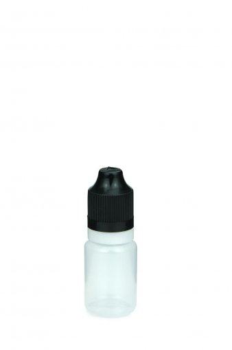 10 ml E-Liquid Flasche PE mit Spitze 3 mm und KISI Schraubverschuss mit Originalität schwarz