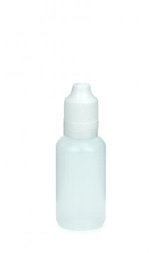 30 ml E-Liquid Flasche PE mit Spitze 3 mm und KISI Schraubverschuss mit Originalität weiß
