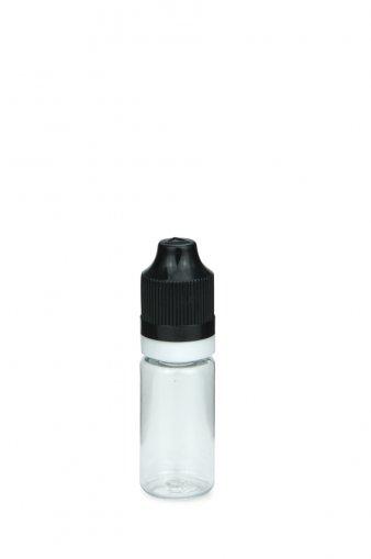 10 ml E-Liquid Flasche PET mit Spitze 3 mm und KISI Schraubverschuss mit Originalität schwarz