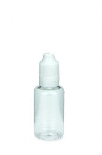 30 ml E-Liquid Flasche PET mit Spitze 3 mm und KISI Schraubverschuss mit Originalität weiß