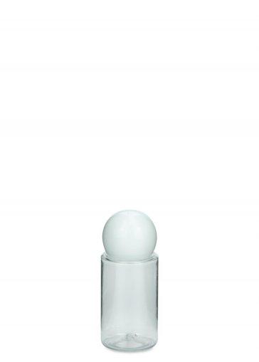 PET Flasche Leonora mini 20 ml Gewinde 18/415 mit Verschluss 18/415 Kugel weiß