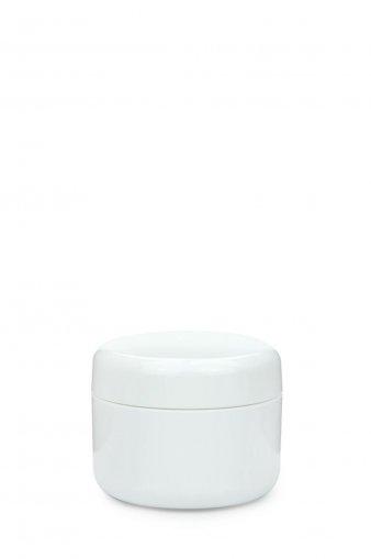 Cremetiegel Nouvelle 100 ml doppelwandig mit Deckel weiß