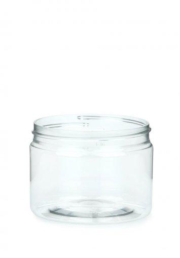 R-PET Tiegel Cylindrical klar 150 ml ohne Verschluss