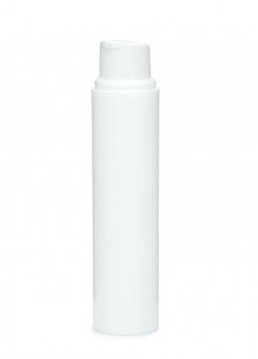 Airless Spender Nano 15 ml Behälter weiss Kopf weiss Kappe weiss