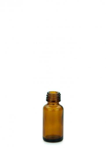 Glasflasche 10 ml braun Gewinde PFP18 ohne Verschluss