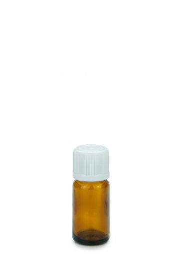 Glasflasche 10 ml braun Gewinde PFP18 mit Schraubverschluss KISI weiß PFP 18