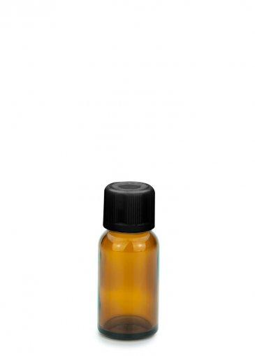 Glasflasche 20 ml braun Gewinde PFP18 mit Schraubverschluss KISI schwarz PFP 18 und Tropfer