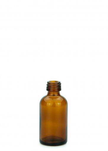 Glasflasche 30 ml braun Gewinde PFP18 ohne Verschluss